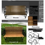 Cat Park Bench Blender 3D