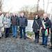 Gedenken auf dem Massengrab des Kahlaer Friedhofs