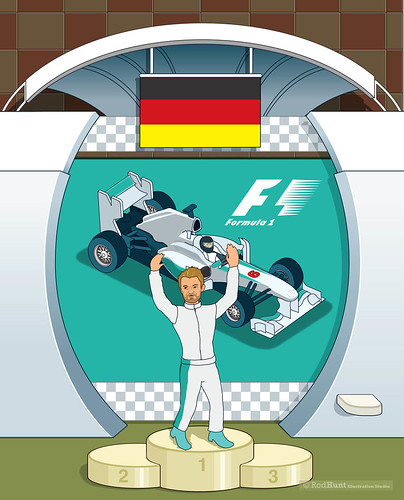 Thank You Nico Rosberg! Formula 1 Illustration by Rod Hunt
