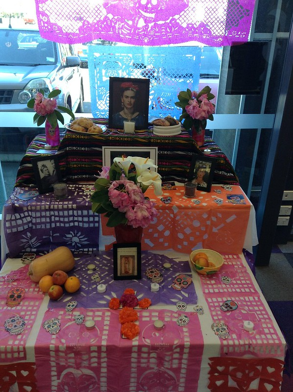 Day of the Dead display, Central Library Peterborough