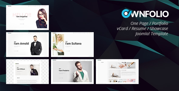 OwnFolio v1.0.0 - One Page Personal Portfolio / vCard / Resume / Showcase Joomla Template