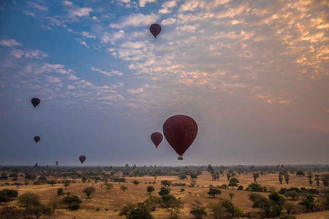 Balloons over Bagan and, Fujifilm X-T1, XF16-55mmF2.8 R LM WR
