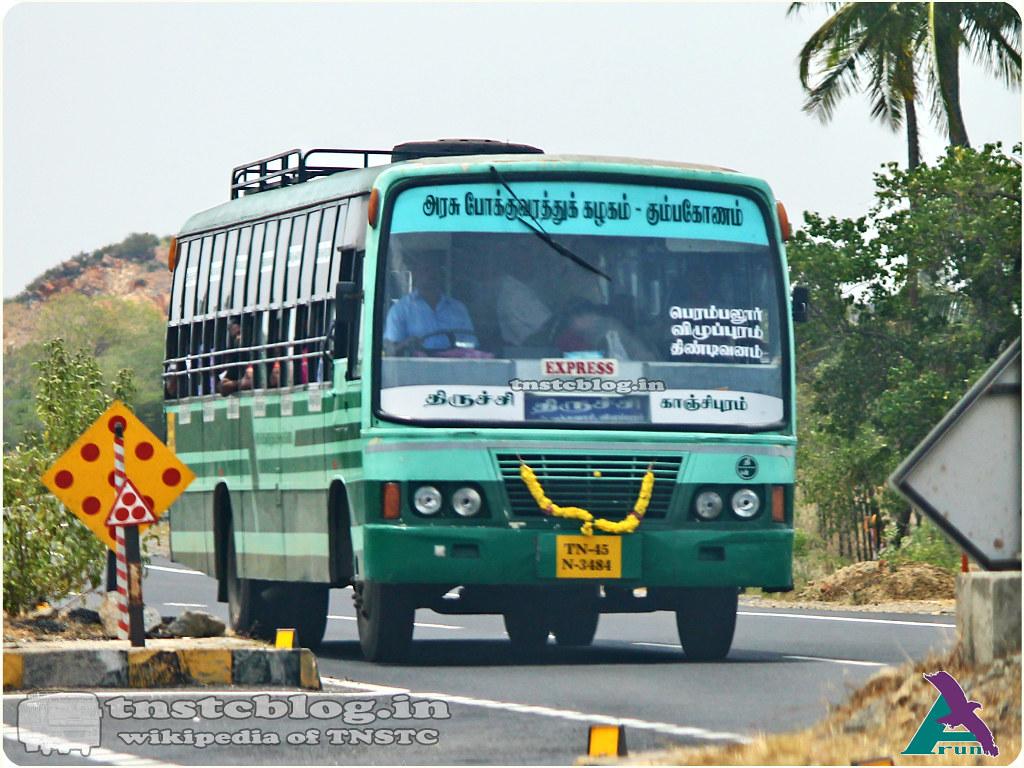 TN-45N-3484 of Cantonment Depot Route Trichy - Kanchipuram via Perambalur, Villupuram, Tindivanam, Vandavasi.