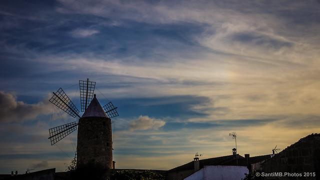 Molino de viento en Algaida