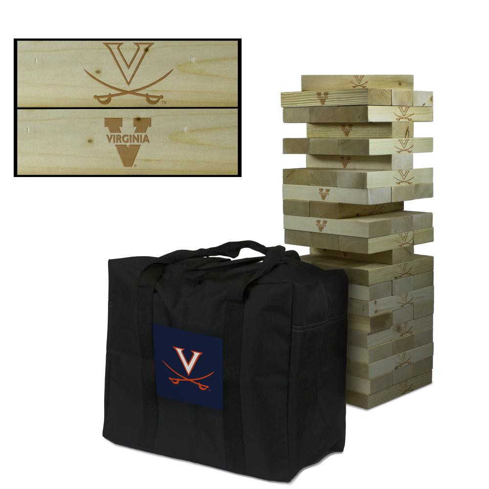 Virginia Cavaliers Wooden Tumble Tower Game