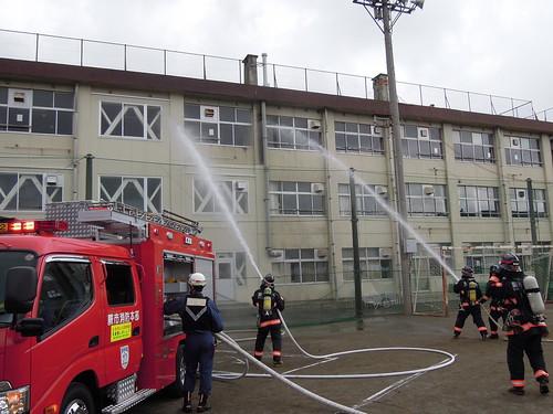 20150823_蕨市総合防災演習_蕨消防による放水訓練