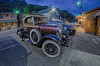 beautiful classic ford car at night on city street by DigiDreamGrafix.com