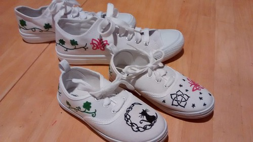 Iron Craft '15 - Wild Thing Decorated shoes with a 'wild' cat & some 'wild' butterflies. ;)