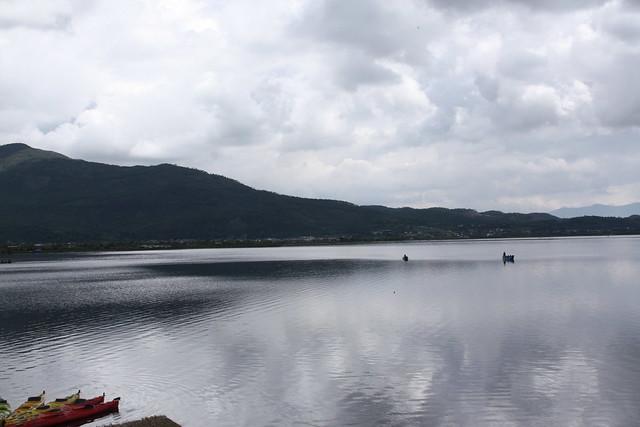 拉市海湖光山色現況。攝影:詹嘉紋。