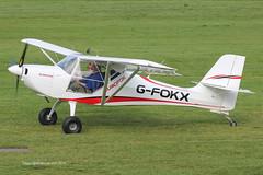 G-FOKX - 2015 build Aeropro Eurofox, taxiing for departure at Barton