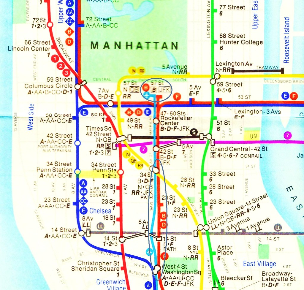 Golden Age Of Stagflation New York Subway Map 1979 The Flickr