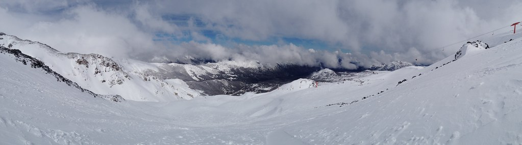 Panorama of the Freeride area
