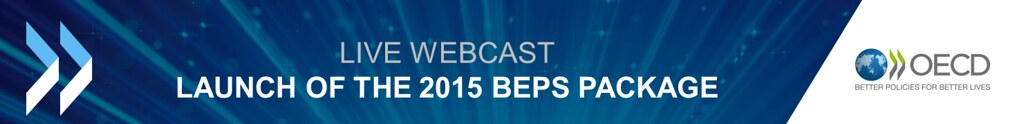 Live webcast: launch of the 2015 BEPS package