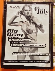 Big Drag, The Drips, Lucy Loves Schoeder, : Wong's Art Bar : Saturday, July 4th, 1998
