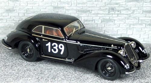 AM43 340 Alfa Romeo 6c 2300B MM Mille Miglia 1938 #139