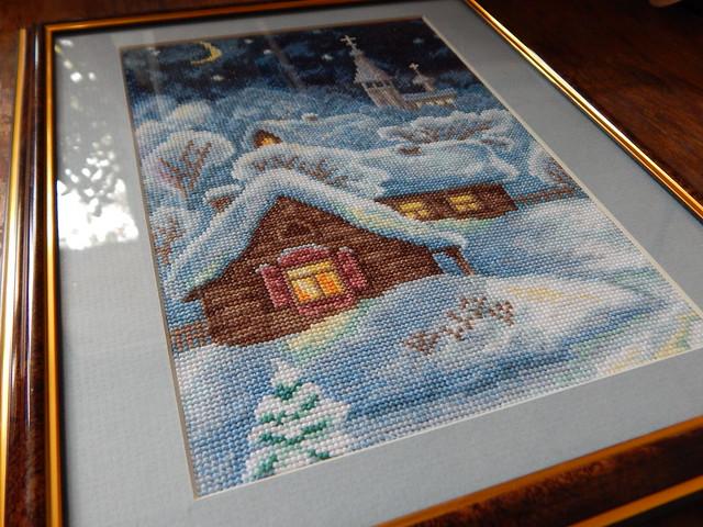 картина Рождественская ночь, вышивка крестом