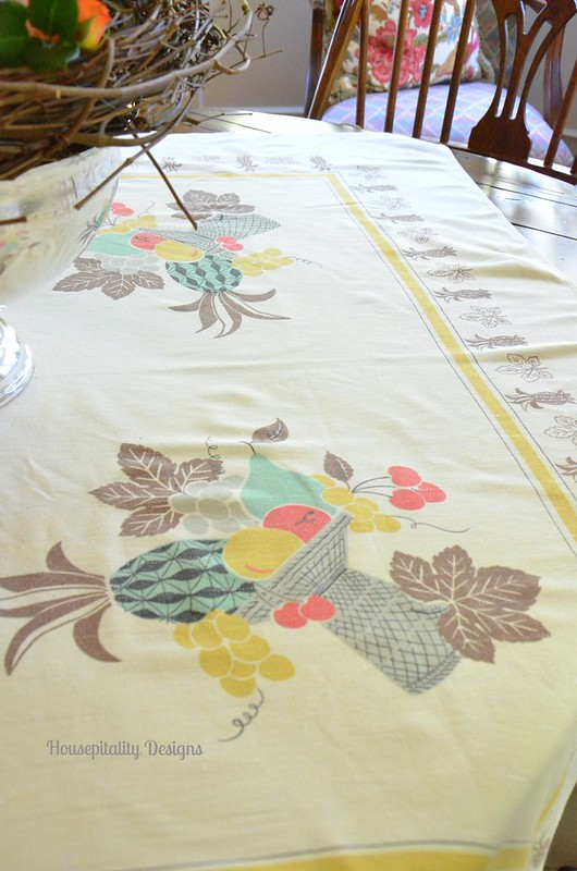 Vintage tablecloth - Housepitality Designs