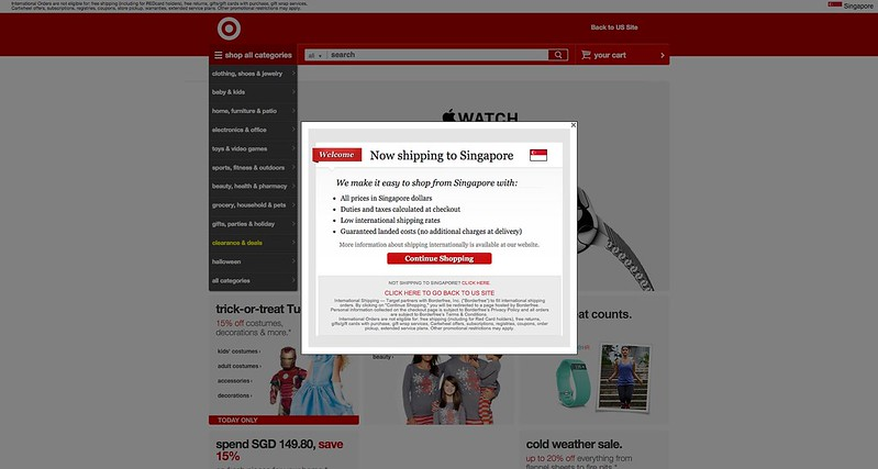 Target Now Ships To Singapore