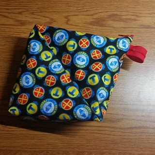 Another Bendy bag,  this one a little bit bigger as an experiment. I'm hoping the little Thomas fan will love it.