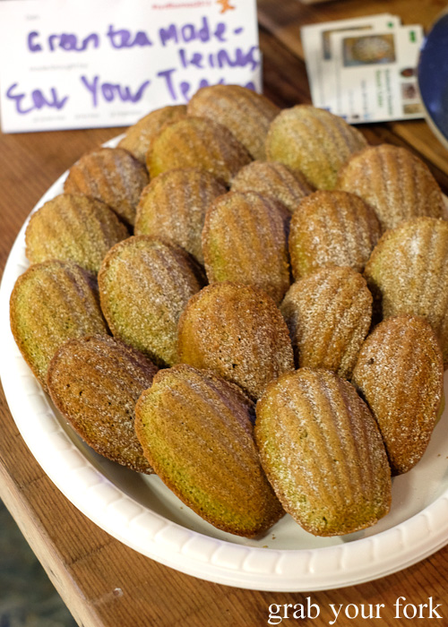 Green tea madeleines at the Sydney Food Bloggers Christmas Party 2015 #sydfbxmas2015