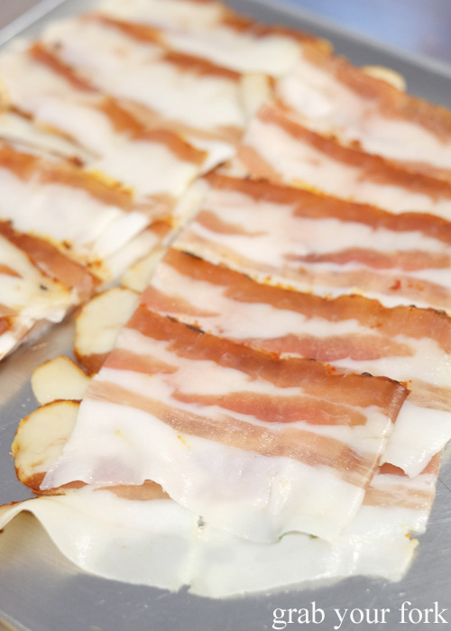Pancetta slices