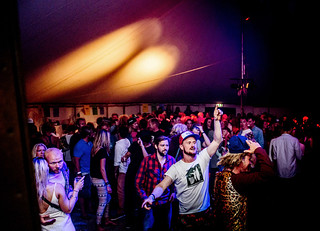 Crowd in the party tent, SURF JOINT 2014