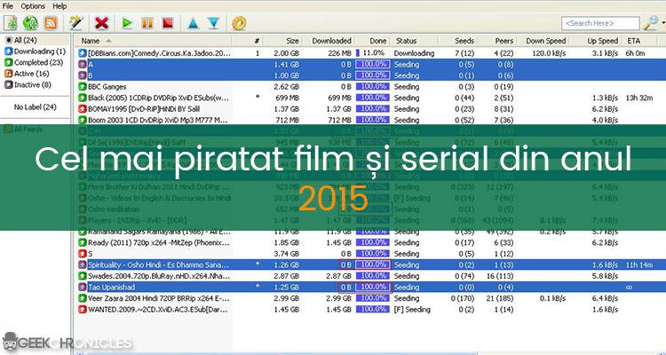 cel mai piratat film din 2015