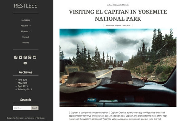 Creativemarket Restless v1.0 – WordPress Theme
