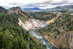 Calcite Springs on the Yellowstone River