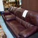 2+2+1 recliner and poof wine leather suite