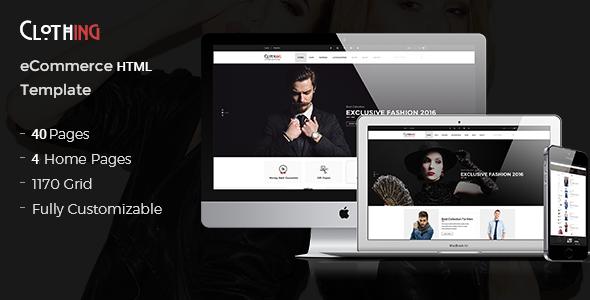 Clothing v1.0 – eCommerce Fashion Template