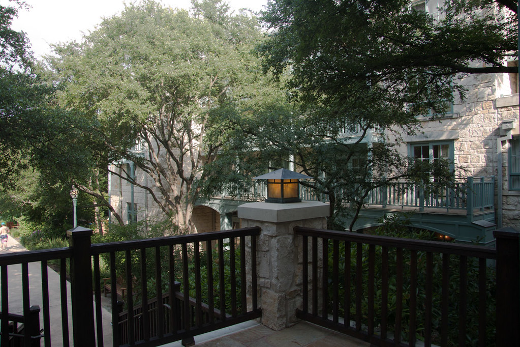 Outdoor areas at hotel
