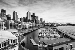 Seattle Waterfront_BW