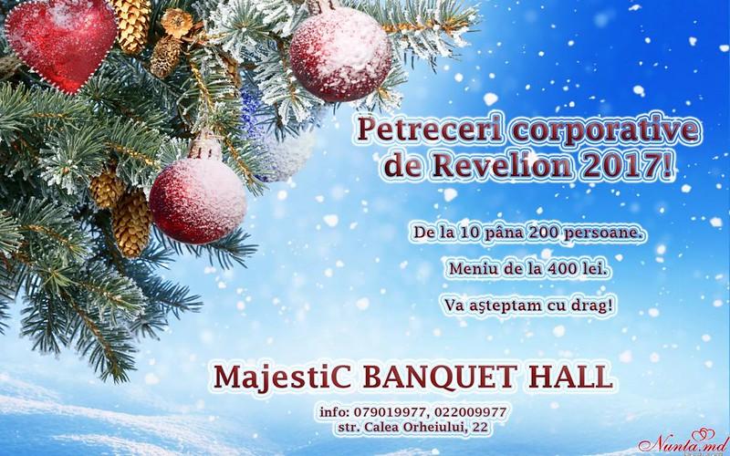 """""""MajestiC"""" - modern, deosebit, accesibil!  > Restaurant """"MajestiC"""" — alegere corectă pentru o petrecece corporativă de Revelion"""