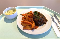 Pork steak with braised onions & country potat…