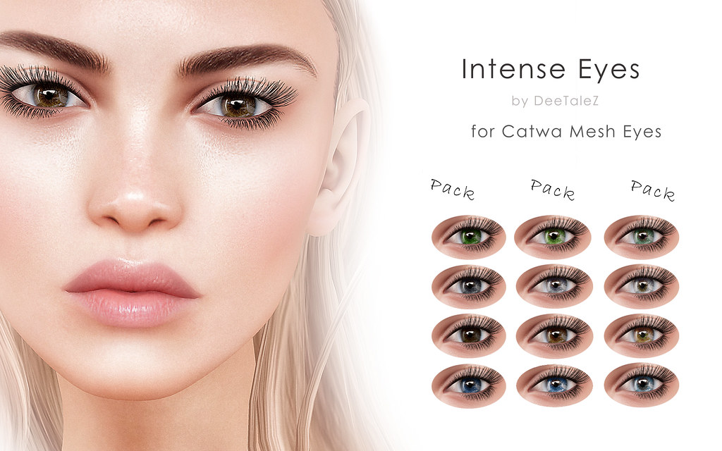 Intense Eyes - Appliers for Catwa Mesh Eyes - SecondLifeHub.com