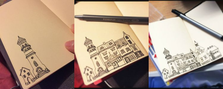 Sketch houses
