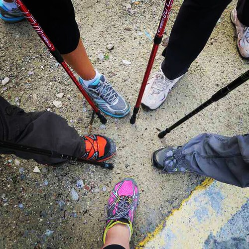 All for one and one for all! The Jungle Janes have been at it again... #hiking #workout #nature