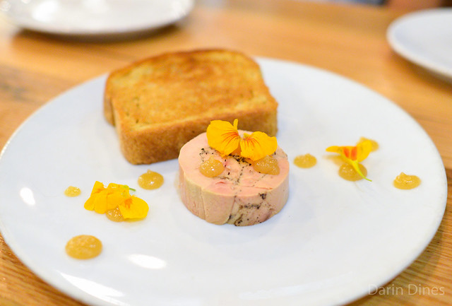 Foie Gras Terrine. stumptown coffee. spices. lemon paste. sea salt. brioche.