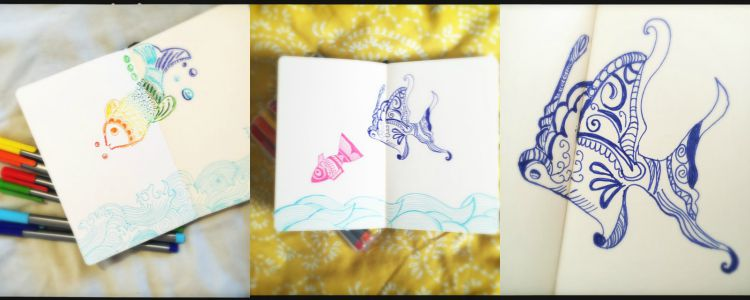 sketch book fish