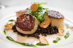 Scallops and Lentils