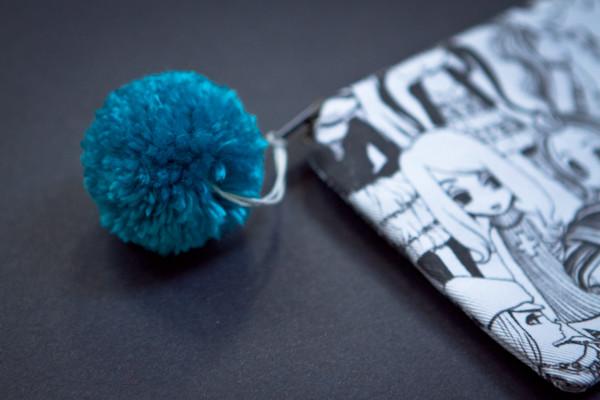 pouch with pom-pom