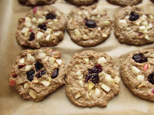(99% raw) vegan acorn mosaic cookies with hawthorn (before drying)