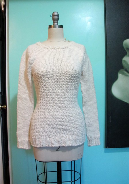 White Graphite Sweater