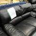 3+2 black leatherette suite