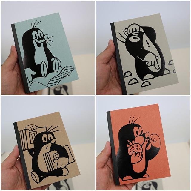 もぐらのクルテク 大胆なプリントがかわいい たっぷり使えるノートブックの会