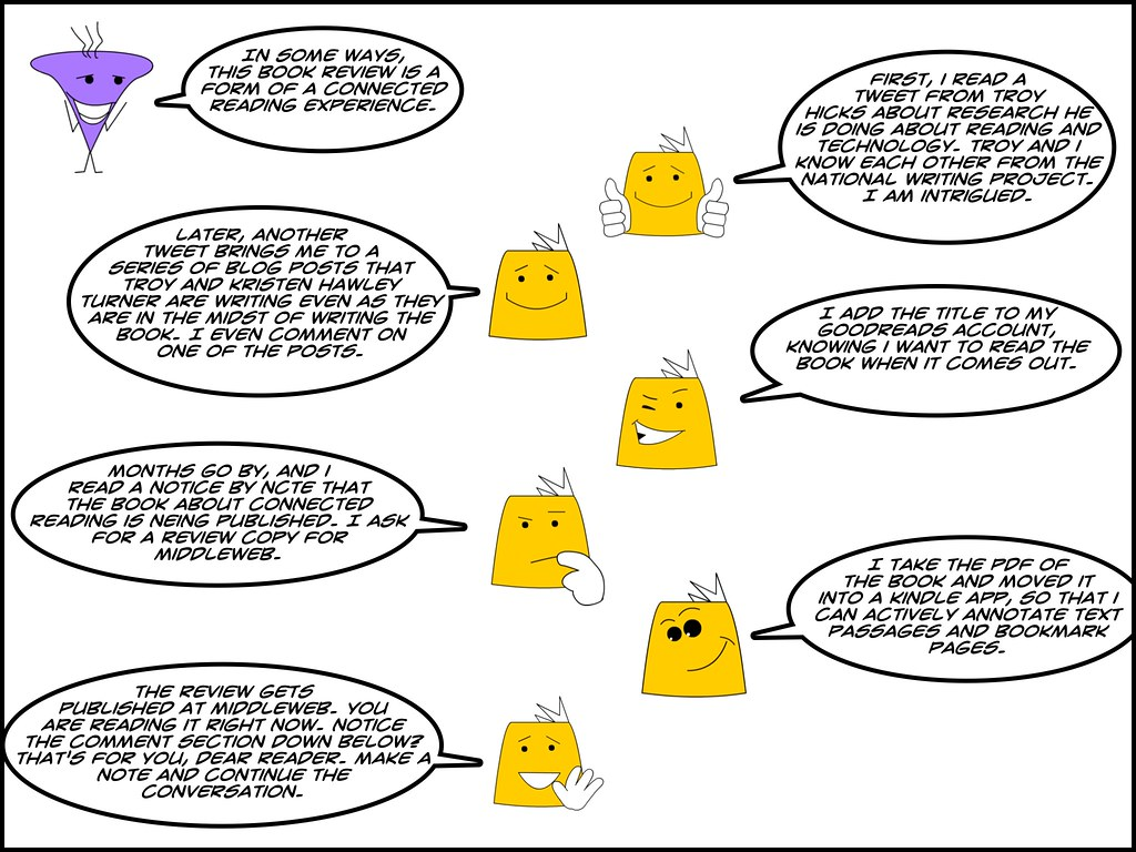Connected Reading review comic