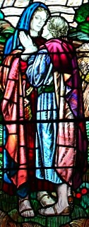 Ruth and Naomi in stained glass