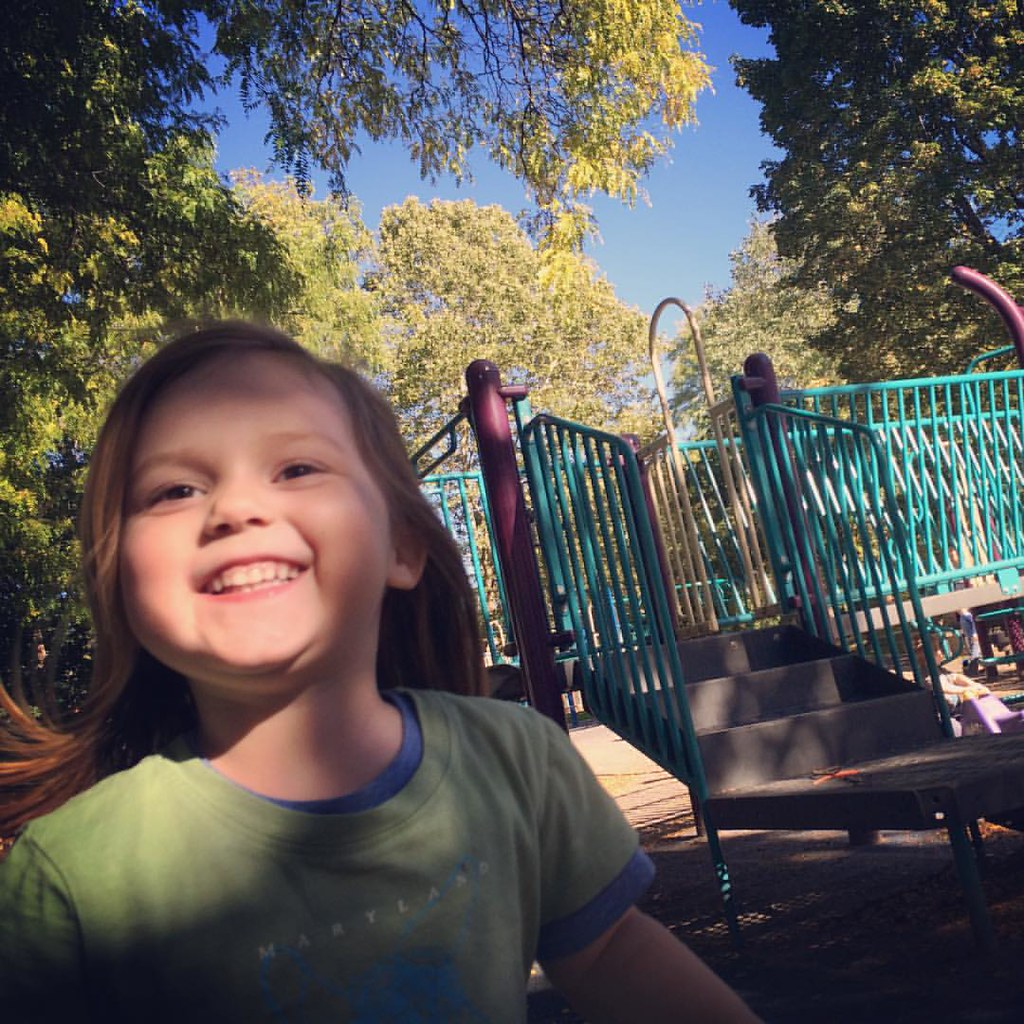 Happy girl at the playground!