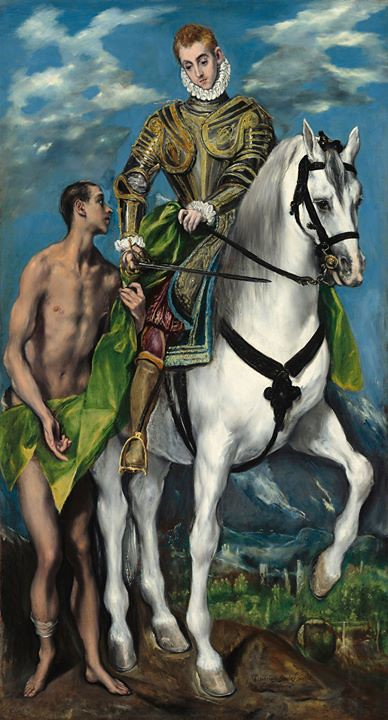 11 novembre - saint Martin Saint Martin de Tours partageant son manteau, par Le Greco